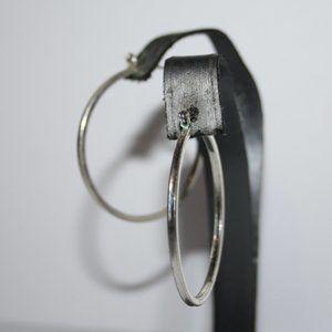 """Silver hoop earrings 1.5"""""""